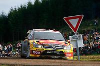 MOTORSPORT - WORLD RALLY CHAMPIONSHIP 2010 - RALLYE DE FRANCE / ALSACE  - STRASBOURG (FRA) - 30/09 TO 03/10/2010 - PHOTO : ALEXANDRE GUILLAUMOT / DPPI - <br /> SOLBERG Petter (NOR) / PATTERSON Chris (GBR) - PETTER SOLBERG WORLD RALLY TEAM - CITROËN C4 WRC - Action