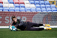 Kamil Miazek of Leeds United U23 warm up during the U23 Professional Development League match between U23 Crystal Palace and Leeds United at Selhurst Park, London, England on 15 April 2019.