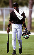 SARASOTA, FL - 1994:  NBA Hall of Famer and White Sox minor leaguer Michael Jordan works out at the Ed Smith Complex in Sarasota, Florida.  (Photo by Ron Vesely)