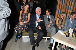 Left to right, JOHN & the HON.MRS DANILOVICH and BEN ELLIOT at the Pig Business Fundraiser, Sake No Hana, St.James's, London on 26th September 2012.