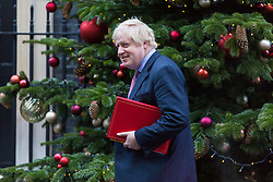 London, December 18 2017. Foreign Secretary Boris Johnson leaves 10 Downing Street following a meeting of Prime Minister Theresa May's 'Brexit Cabinet'. © Paul Davey
