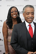 14 June 2010- Harlem, New York- l to r: Dominique Sharptn and her Father, Rev. Al Sharpton at The Apollo Theater's 2010 Spring Benefit and Awards Ceremony hosted by Jamie Foxx inducting Aretha Frankilin and Michael Jackson, and honoring Jennifer Lopez and Marc Anthony co- sponsored by Moet et Chandon which was held at the Apollo Theater on June 14, 2010 in Harlem, NYC. Photo Credit: Terrence Jennngs/Sipa