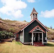 Kahakuloa Village on the rugged North shore of West Maui, Hawaii, USA