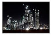 Dubai, UAE, 25 Jan, 2007, Construction of the Porsche building PHOTO © Christophe Vander Eecken