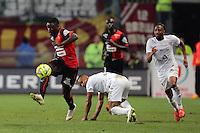 Paul Georges NTEP / Florent MALOUDA  - 07.03.2015 -  Rennes / Metz -  28eme journee de Ligue 1 <br />Photo : Vincent Michel / Icon Sport