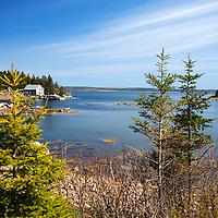 North America, Canada, Nova Scotia, Guysborough County. Scenic landscape of Little Harbour, Guysborough County.