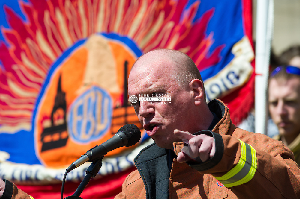 Matt Wrack (FBU Gen. Sec.) at the Leeds TUC May Day Rally 2014