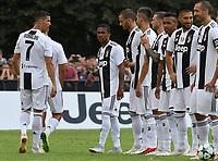 Cristiano Ronaldo and teammates <br /> Villar Perosa 12-08-2018 Friendly Match - Amichevole Juventus A Vs Juventus B foto OnePlusNine/Insidefoto