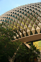"""The Esplanade, Theatres on the Bay, its nickname is """"The Durian"""" for its rippled roof that resembles the """"King of Fruit"""".  Nevertheless, the Esplanade hosts world-class performers and entertainment."""