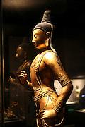 China, Tianjin, Interior of the Tianjin Museum Ming Dynasty Golden statue of Sakyamuni