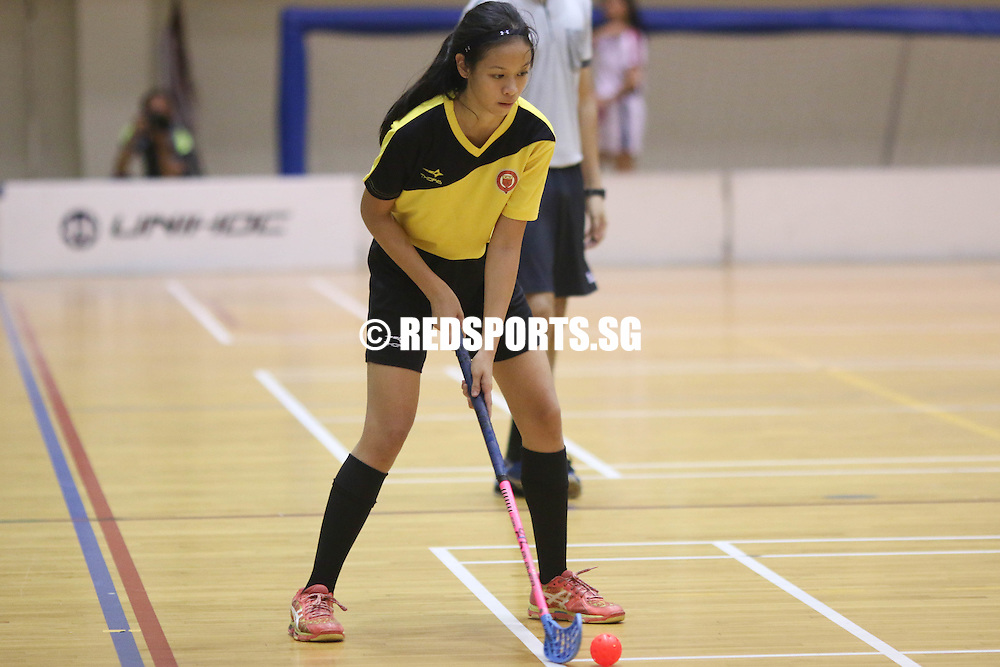 Delta Sports Hall, Friday, May 27, 2016 — Victoria Junior College (VJC) led throughout to beat Catholic Junior College (CJC) to place third in the National A Division Floorball Championship.<br /> <br /> It was the first time CJC had finished in the top four.