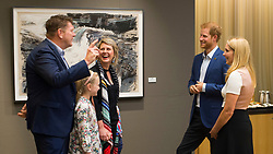 ***POOL PICTURES*** Prince Harry arrives at the Scotia Plaza in downtown Toronto for a symposium with participants of this year's Invictus Games, which open on Saturday. Harry met with David Wiseman (Team UK shirt), Mike Trauner (Team Canada shirt) and Australian veteran and athlete Mark Reidy, his wife Karen May, and their children <br /><br />22 September 2017.<br /><br />Please byline: Vantagenews.com