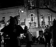 An evening outdoor Milonga ( tango event) in San Telmo, Buenos Aires.