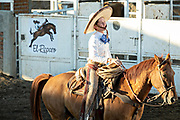 Juan Franco de Anda at the family Charreria practice session in the Jalisco Highlands town of Capilla de Guadalupe, Mexico. The Franco family has dominated Mexican rodeo for 40-years and has won three national championships, five second places and five third places.