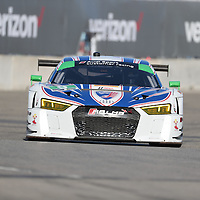 Detroit, MI - Jun 03, 2016:  The Stevenson Motorsports Audi R8 LMS GT3 races through the turns at the Detroit Grand Prix at Belle Isle Park in Detroit, MI.