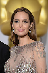 Angelina Jolie posing in the press room of the 86th Academy Awards held at the Dolby Theatre in Hollywood, Los Angeles, CA, USA, March 2, 2014. Photo by Lionel Hahn/ABACAPRESS.COM