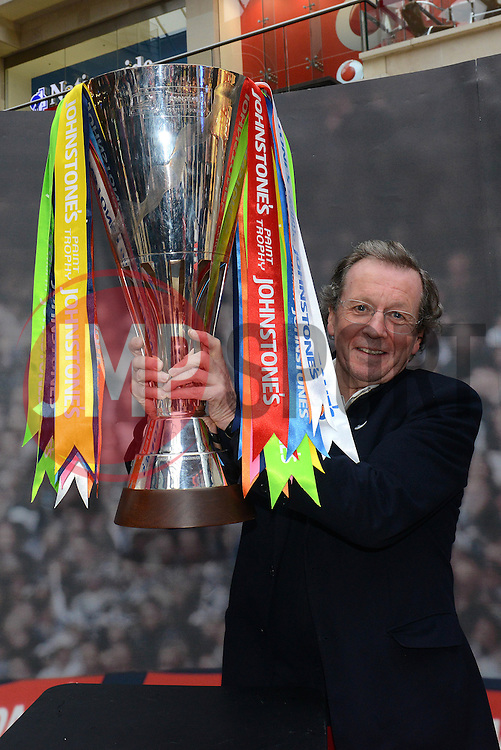 George Ferguson with the Johnstone Paint Trophy - Photo mandatory by-line: Dougie Allward/JMP - Mobile: 07966 386802 - 11/03/2015 - SPORT - Football - Bristol - Cabot Circus Shopping Centre - Johnstone's Paint Trophy