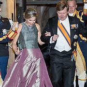 NLD/Amsterdam/20180424 - koning en koningin bieden Corps Diplomatique diner aan, Koning Willem Alexander en Koningin Maxima