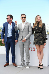 Director Taylor Sheridan and actors Jeremy Renner and Elizabeth Olsen attend the 'Wind River' photocall during the 70th annual Cannes Film Festival at Palais des Festivals on May 20, 2017 in Cannes, France Photo by ShootPix/ABACAPRESS.COM