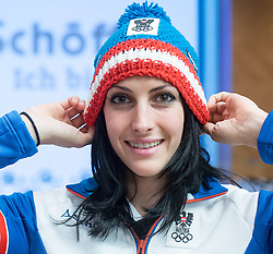 28.01.2014,  Marriott, Wien, AUT, Sochi 2014, Einkleidung OeOC, im Bild Janine Flock (Skeleton, AUT) // Janine Flock (Skeleton, AUT) during the outfitting of the Austrian National Olympic Committee for Sochi 2014 at the  Marriott in Vienna, Austria on 2014/01/28. EXPA Pictures © 2014, PhotoCredit: EXPA/ JFK