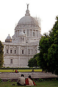 Photo by Heathcliff Omalley..Calcutta , West Bengal, India 21 March 2007..For Peter Foster Blog.....The Victoria Memorial in the City of Calcutta, once the capital of India during the British Raj.