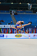 Harutyunyan Lilit during qualifying at hoop in Pesaro World Cup 10 April 2015. Lilit is an Armenian rhythmic gymnastics athlete born  May 5, 1995 in Erevan,  Armenia.
