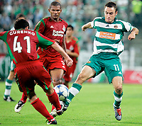 Fotball<br /> Bundesliga Østerrike 2005/2006<br /> Foto: Gepa/Digitalsport<br /> NORWAY ONLY<br /> <br /> 10.08.2005<br /> Sergei Gurenko, Francisco Lima (Lokomotive Moskva) und Steffen Hofmann (Rapid)