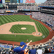 Pitcher Alex Torres, New York Mets, pitching with bases loaded during the New York Mets Vs Washington Nationals MLB regular season baseball game at Citi Field, Queens, New York. USA. 3rd May 2015. Photo Tim Clayton