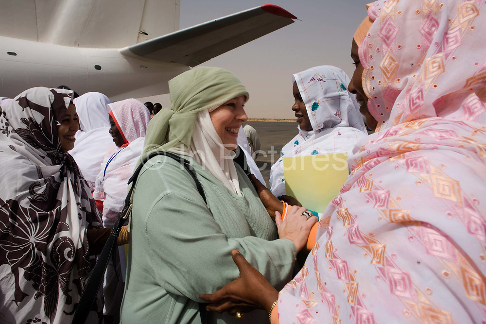 After a flight from the Sudanese capital Khartoum, British Muslim activist, TV broadcaster and journalist, Yvonne Ridley is greeted by women of Darfur on the tarmac of Al-Fashir airport. She and a delegation hosted by British peer Lord Ahmed, she is here to attend the first-ever international Conference on Womens' Challenge in Darfur, hosted by the governor in his own compound. The Sudanese Women General Union has 27,000 branches all over Sudan, including Darfur. They have representatives in all rural villages, across communities of around 80 tribes and clans. The women of Sudan are wives, mothers, farmers a real force and historically, there have been female leaders.
