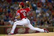 ARLINGTON, TX - JULY 09:  Yu Darvish #11 of the Texas Rangers pitches during the sixth inning against the Houston Astros on July 9, 2014 at Globe Life Park in Arlington in Arlington, Texas.  (Photo by Cooper Neill/Getty Images) *** Local Caption *** Yu Darvish