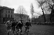 Irish Rugby Football Union, Ireland v England, Five Nations, English team practice, College Park, Dublin, Ireland, Friday 13th February, 1959,.13.2.1959, 2.13.1959,..English Team, ..J G G Hetherington, Wearing number 1 English jersey, Full Back, Northhampton Rugby Football Club, Northhampton, England, ..P H Thompson, Wearing number 5 English jersey, Left Wing, Waterloo Rugby Football Club, Liverpool, England,..J Butterfield, Wearing number 4 English jersey, Captain of the English team, Left Centre, Northhampton Rugby Football Club, Northhampton, England, ..M S Phillips, Wearing number 3 English jersey, Right centre, Oxford University Rugby Football Club, Oxford, England,..P B Jackson, Wearing number 2 English jersey, Right Wing, Coventry Rugby Football Club, Coventry, England, ..A B W Risman, Wearing number 6 English jersey, Outside Half, Manchester University Rugby Football Club, Manchester, England,..S R Smith, Wearing number 7 English jersey, Scrum Half, Cambridge University Rugby Football Club, Cambridge, England,..L H Webb, Wearing number 8 English jersey, Forward, Bedford Rugby Football Club, Bedford, England,..J A S Wackett, Wearing number 9 English jersey, Forward, Rosslyn Park Rugby Football Club, London, England,..G J Bendon, Wearing number 10 English jersey, Forward, Wasps Rugby Football Club, London, England,..R W D Marques, Wearing number 11 English jersey, Forward, Harlequins Rugby Football Club, London, England,..J D Currie, Wearing number 12 English jersey, Forward, Harlequins Rugby Football Club, London, England,..A J Herbert, Wearing number 13 English jersey, Forward, Wasps Rugby Football Club, London, England,..A Ashcroft, Wearing number 14 English jersey, Forward, Waterloo Rugby Football Club, Liverpool, England,..J W Clements, Wearing number 15 English jersey, Forward, Old Cranleighans Rugby Football Club, Surrey, England,