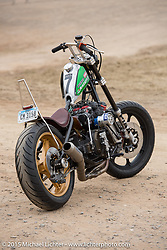 Jeff Wright's 1976 KZ900 invited builder entry to Born Free-7 at Oak Canyon Ranch. Silverado, CA. USA. June 28, 2015.  Photography ©2015 Michael Lichter.