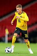 Thorgan Hazard (#16) of Belgium during the International Friendly match between Scotland and Belgium at Hampden Park, Glasgow, United Kingdom on 7 September 2018.