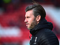 Lincoln City's assistant manager Nicky Cowley during the pre-match warm-up<br /> <br /> Photographer Andrew Vaughan/CameraSport<br /> <br /> The EFL Sky Bet League Two - Lincoln City v Mansfield Town - Saturday 24th November 2018 - Sincil Bank - Lincoln<br /> <br /> World Copyright © 2018 CameraSport. All rights reserved. 43 Linden Ave. Countesthorpe. Leicester. England. LE8 5PG - Tel: +44 (0) 116 277 4147 - admin@camerasport.com - www.camerasport.com