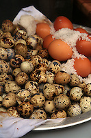 Brown Eggs, Quail Eggs, Duck Eggs - Chinese cuisine employs a large array of eggs in its recipes, and can easily be found at most markets in Hong Kong and the rest of China.