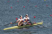 "Rio de Janeiro. BRAZIL.   GER M2X. Bow. Marcel HACKER and Stephan<br /> KRUEGER, 2016 Olympic Rowing Regatta. Lagoa Stadium,<br /> Copacabana,  ""Olympic Summer Games""<br /> Rodrigo de Freitas Lagoon, Lagoa. Local Time 12:00:06   Saturday  06/08/2016 <br /> <br /> [Mandatory Credit; Peter SPURRIER/Intersport Images]"