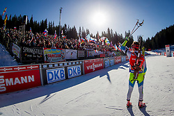 Miha Dovzan (SLO) competes during Men 12,5 km Pursuit at day 3 of IBU Biathlon World Cup 2015/16 Pokljuka, on December 19, 2015 in Rudno polje, Pokljuka, Slovenia. Photo by Urban Urbanc / Sportida