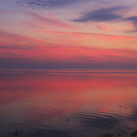 """""""Morning in Pink""""<br /> <br /> Sunrise over Lake Huron as viewed from St. Ignace Michigan in the Upper Peninsula!! <br /> <br /> Sunrise Images by Rachel Cohen"""
