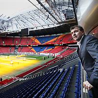 Nederland, Amsterdam , 19 februari 2014.<br /> Hendrik Jan de Mari, commercieel directeur Amsterdam Arena vanaf de koninklijke lounge in de Arena.<br /> Foto:Jean-Pierre Jans