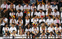 20.04.2013, Porsche-Arena, Stuttgart, GER, Fed CUP, Playoff, Deutschland vs Serbien, im Bild die DTB Fans in Stuttgart, Mona BARTHEL (GER) vs Ana IVANOVIC (SRB) // during the Fed Cup World Group Playoff between Germany and Serbia at the Porsche-Arena, Stuttgart, Germany on 2013/04/20. EXPA Pictures © 2013, PhotoCredit: EXPA/ Eibner/ Eckhard Eibner..***** ATTENTION - OUT OF GER *****