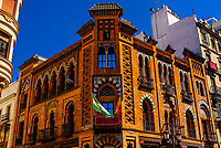 Along Calle Campana, Seville, Andalusia, Spain.