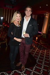 Rugby player CHRIS WYLES and AMY WILSON THOMAS a party to celebrate the publication of 'Passion for Life' by Joan Collins held at No41 The Westbury Hotel, Mayfair, London on21st October 2013.