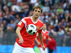 June 14, 2018 - Moscow, Russia - 14 June 2018, Russia, Moscow, FIFA World Cup, First Round, Group A, First Matchday, Russia vs Saudi Arabia at the Luzhniki Stadium. Player Mario Fernandez  (Credit Image: © Russian Look via ZUMA Wire)