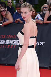 Vanessa Kirby attending the Global Premiere of Mission: Impossible - Fallout at Palais de Chaillot in Paris, France on July 12, 2018. Photo by Aurore Marechal/ABACAPRESS.COM