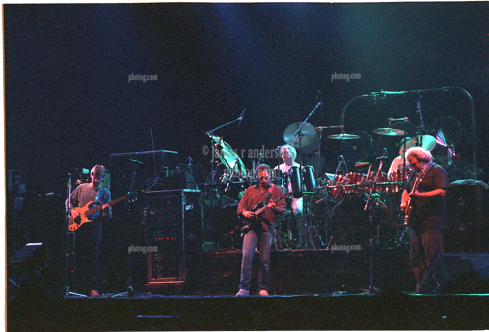 The Grateful Dead Live at The Capital Centre, Landover MD on the 16th of March 1990. Shot from Stage Right about 5 or 6 rows back. Everyone but Brent in this shot.