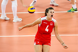 Beyza Arici of Turkey celebrates during the volleyball match between National team of Turkey and Slovenia in Gold Medal game of Womens U23 World Championship 2017, on September 17, 2017 in SRC Stozice, Ljubljana, Slovenia. Photo by Morgan Kristan / Sportida