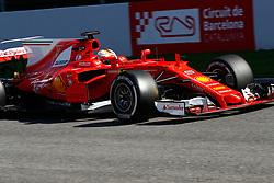 March 7, 2017 - Barcelona, Cataluna, Spain - Motorsports: FIA Formula One World Championship 2017, Test in Barcelona,.Sebastian Vettel (GER, Scuderia Ferrari) (Credit Image: © Hoch Zwei via ZUMA Wire)