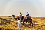Camel Rides through the desert of the Giza Plateau