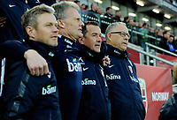 Fotball , 26. mars 2017 ,  VM-kvalifisering<br /> Nord-Irland - Norge<br /> Lars Lagerbäck , Norge<br /> Lars Lagerback<br /> Per Joar Hansen<br /> Frode Grodås<br /> <br /> World qual.<br /> Northern Ireland - Norway
