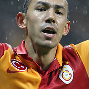 Galatasaray's Umut Bulut during their UEFA Champions League Group H matchday 3 soccer match Galatasaray between CFR Cluj at the TT Arena Ali Sami Yen Spor Kompleksi in Istanbul, Turkey on Tuesday 23 October 2012. Photo by Aykut AKICI/TURKPIX